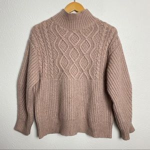 A New Day Cable Knit Mock Turtleneck Sweater Small